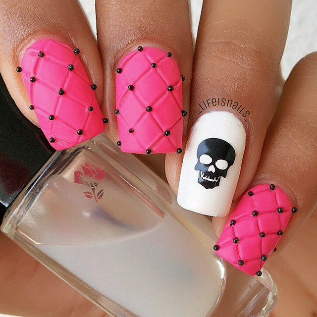 Beautiful Pink Nail Design