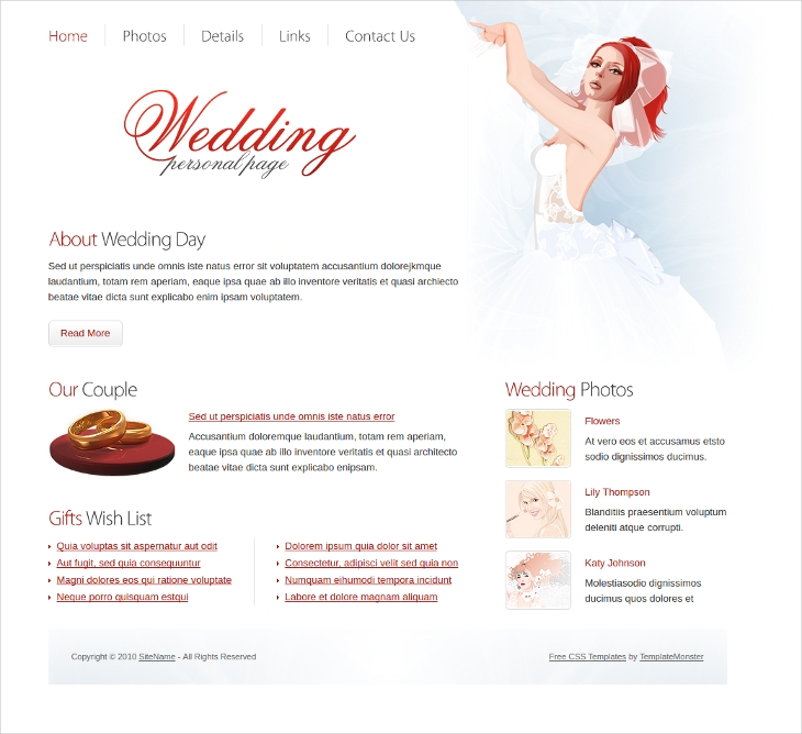 wedding personal template