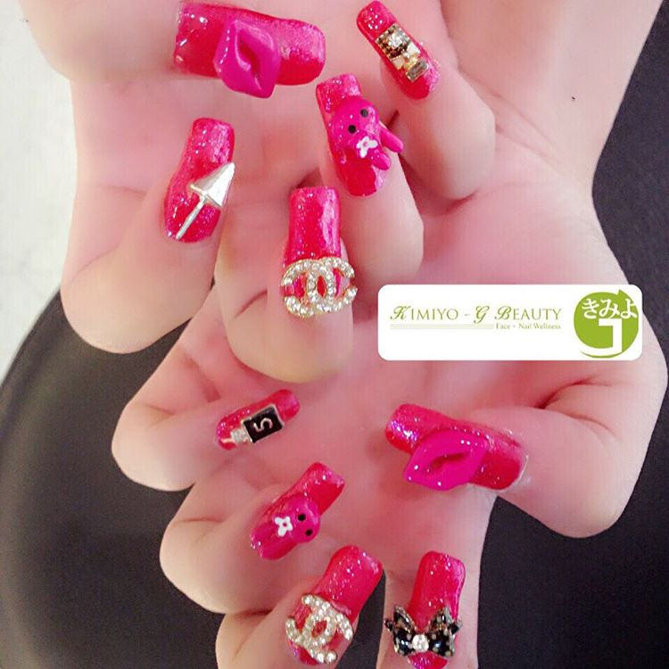 Baby Pink Nail Art Design