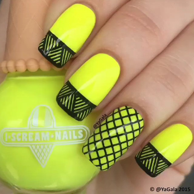 Cool Lined Nail Designs