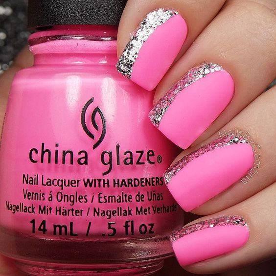 Bright Pink Nail Design