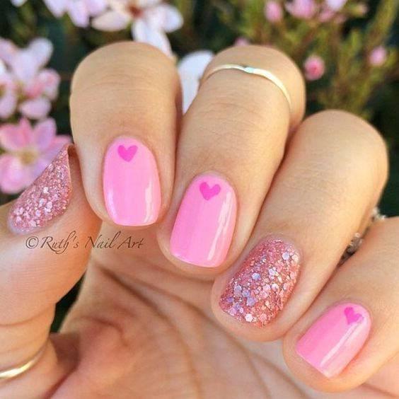 Glitter Pink Nail Polish