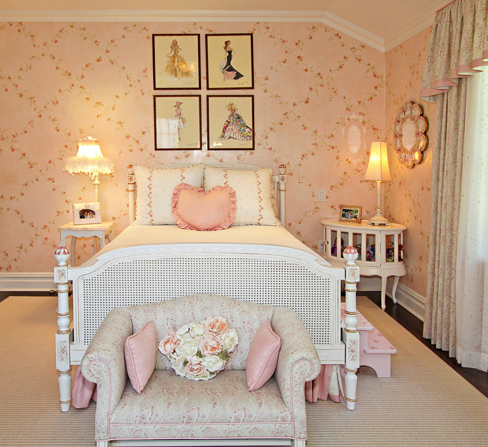 Pink Girls Room: 23+ Floral Wallpaper Designs, Decor Ideas