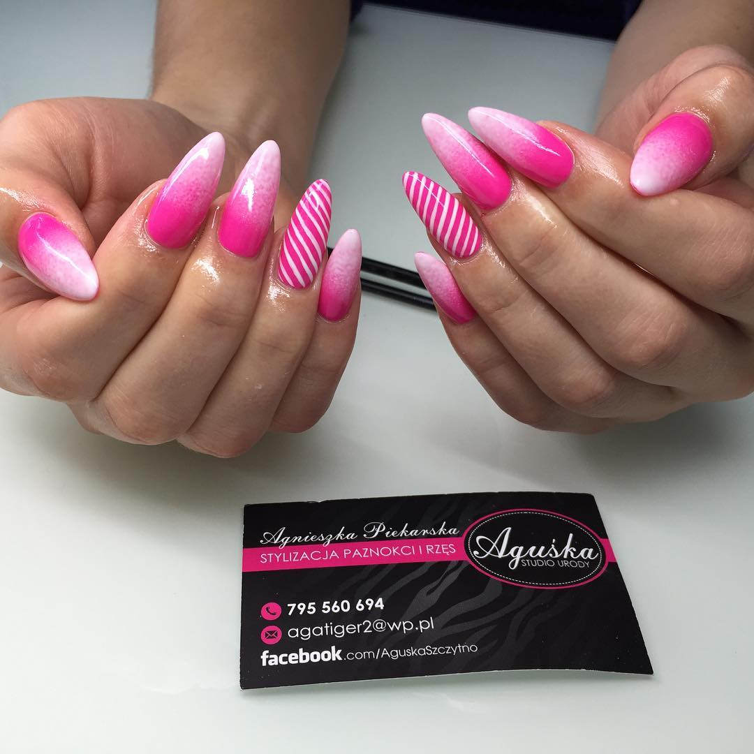 29+ Pink Nail Art Designs, Ideas