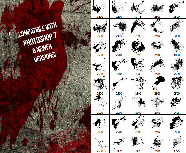 40 bloody massacre photoshop brushes