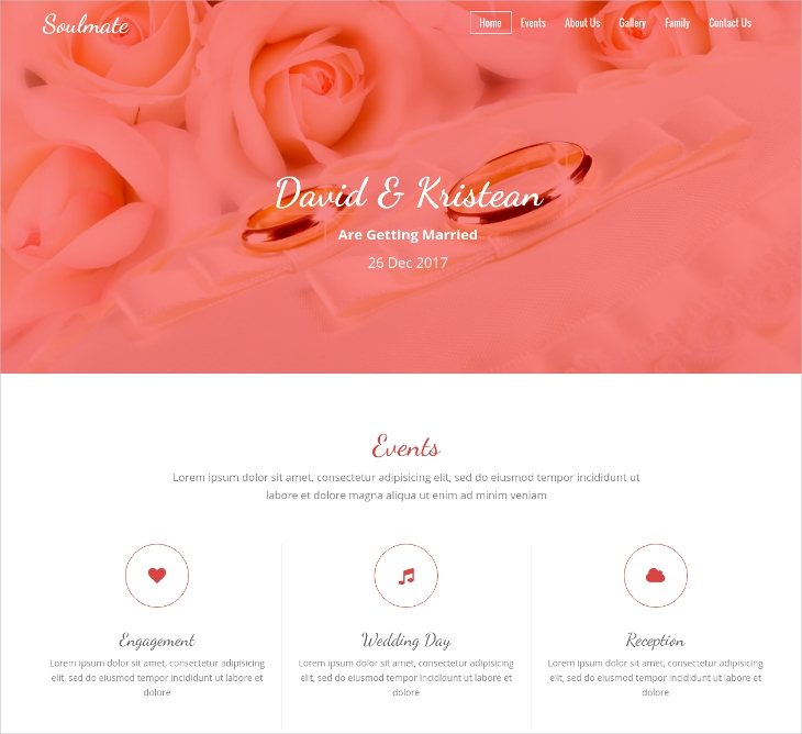 html wedding invitation template