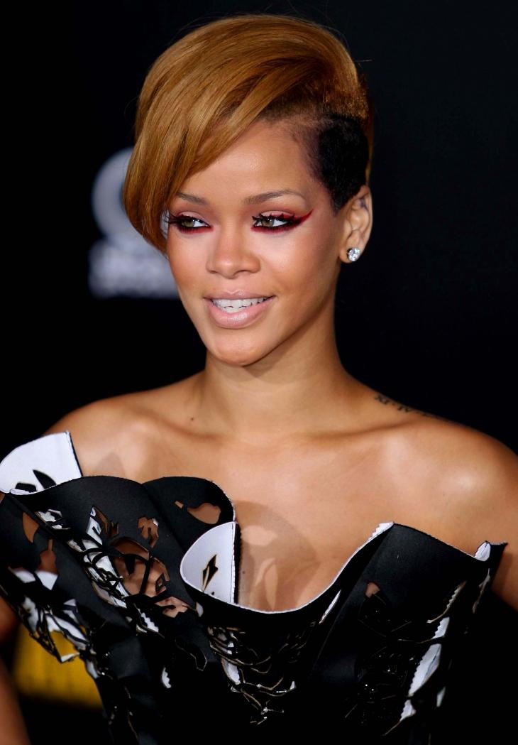 Rihanna Mohawk Hairdo