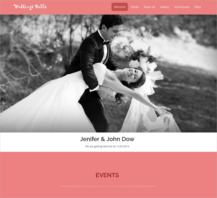 wedding bells responsive html5 template