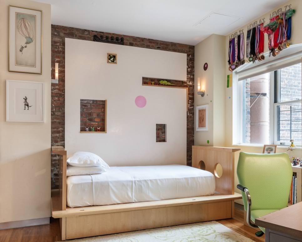 exposed brick wall design in kids bedroom - Brick Wall Design