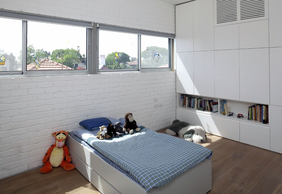 modern kids bedroom wall brick designed