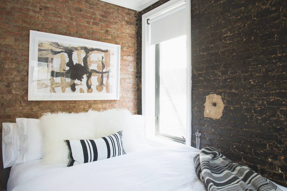 Urban Bedroom Hues of Exposed Brick design