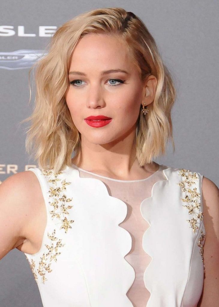 Jennifer Lawrence Wave Bob Hair