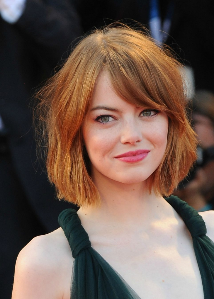 Emma Stone Short Chop Layers