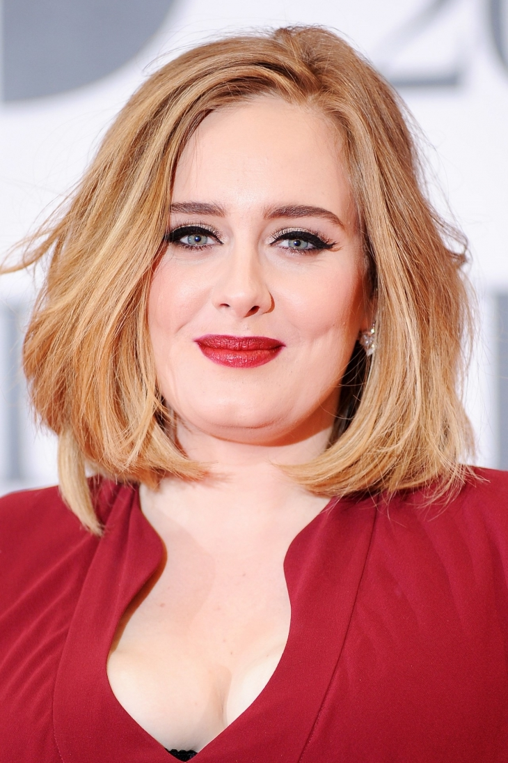 Adele Choppy Bob Haircut