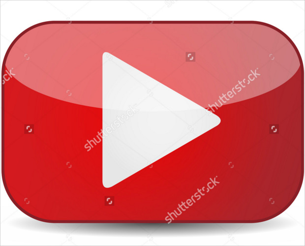 Realistic Video Paly Button