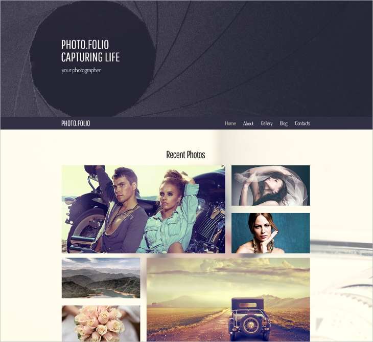 HTML5 Theme for Photo Site