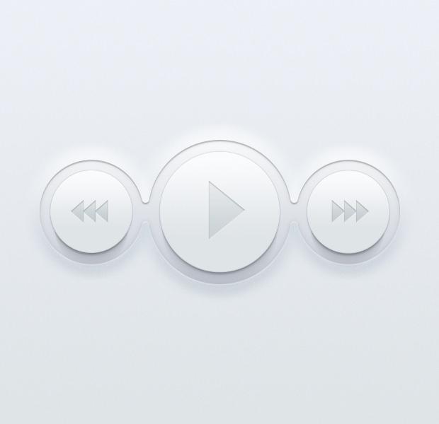 flat video buttons