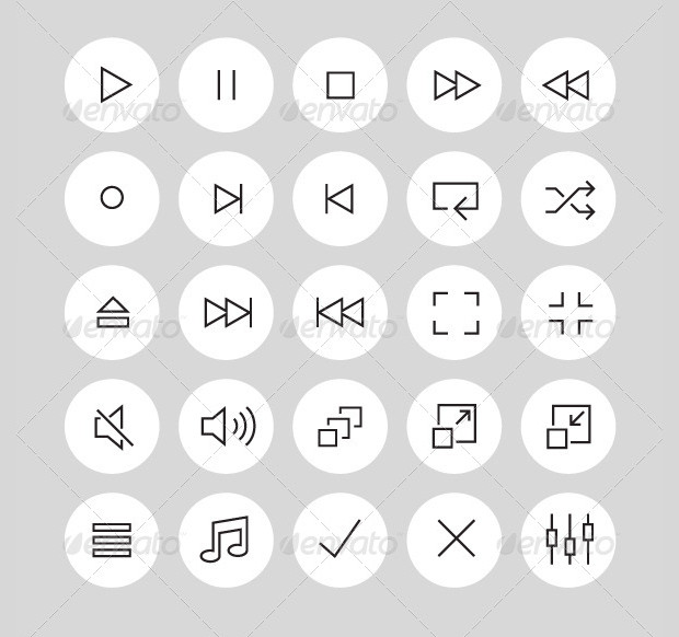 Simple Collection Of Video Buttons