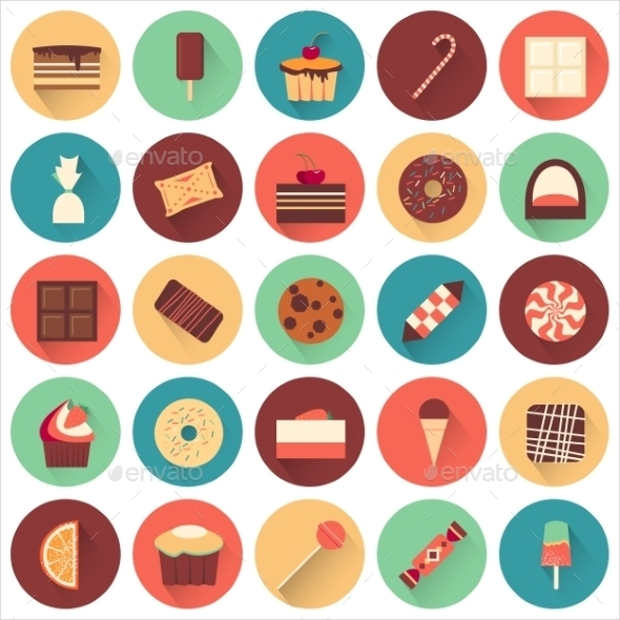 Tasty Dessert Icon Set