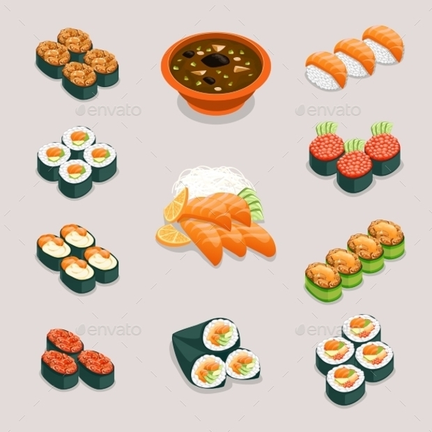 Asia Tasty Food Icons