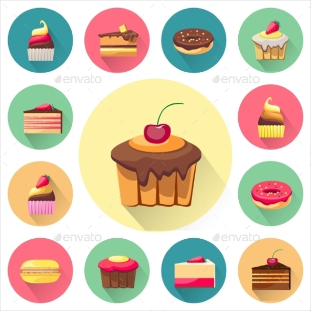 Tasty Cake Icon Set