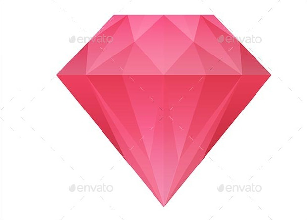 red diamond vector
