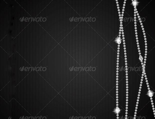 Abstract Black Diamond Vector