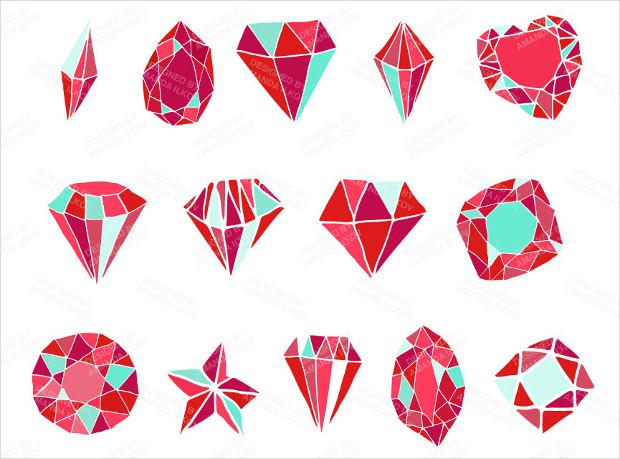 Hand Drawn Diamond Vectors