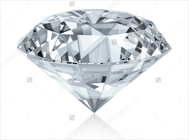 classic diamond vector