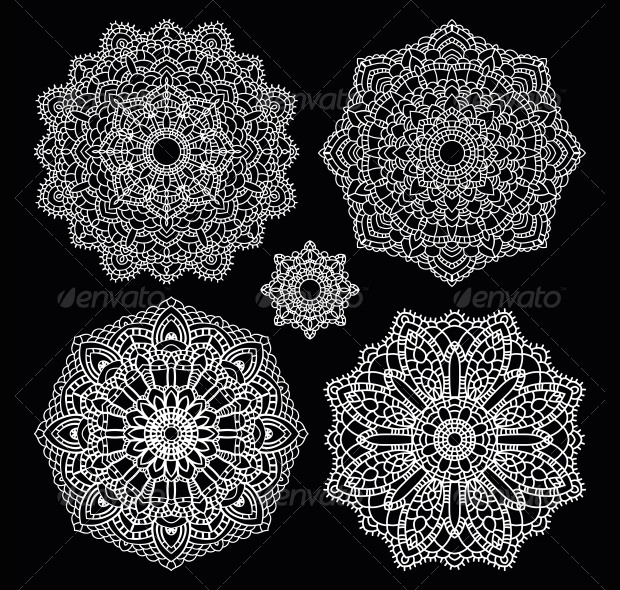 set of crochet patterns