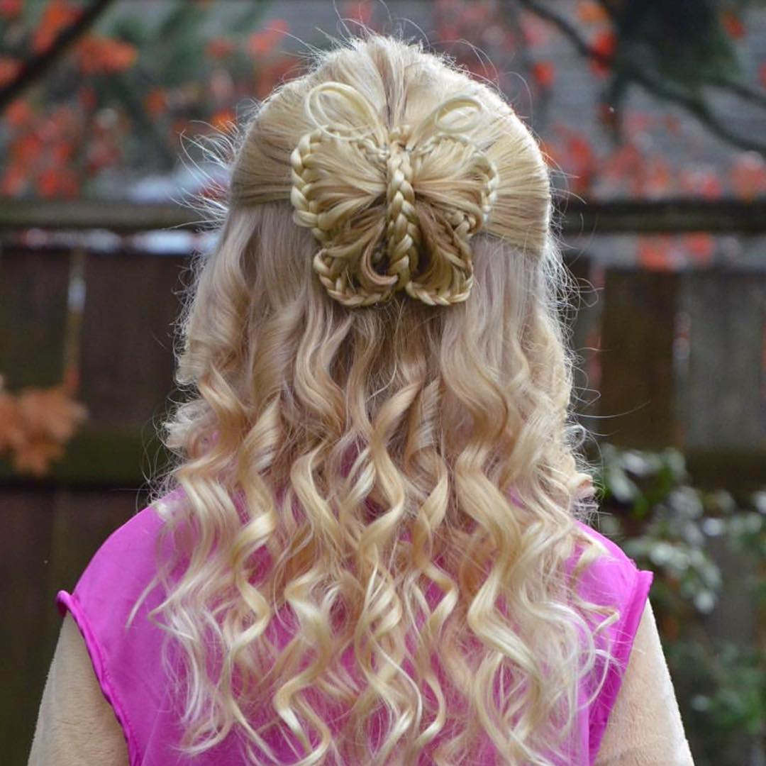 Butterfly Hairstyle For Medium Hair