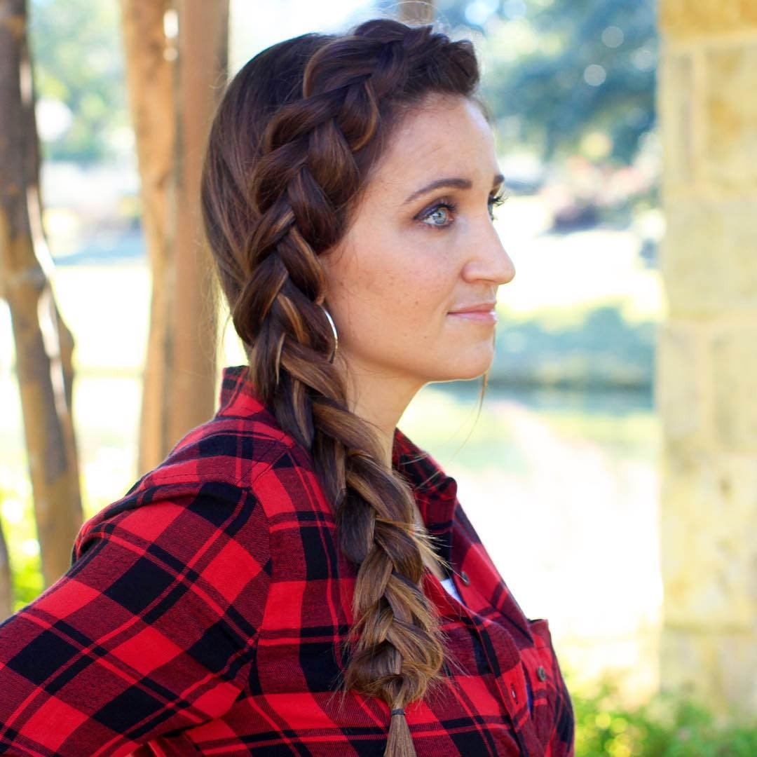 Fishtail Hairstyle For Medium hair