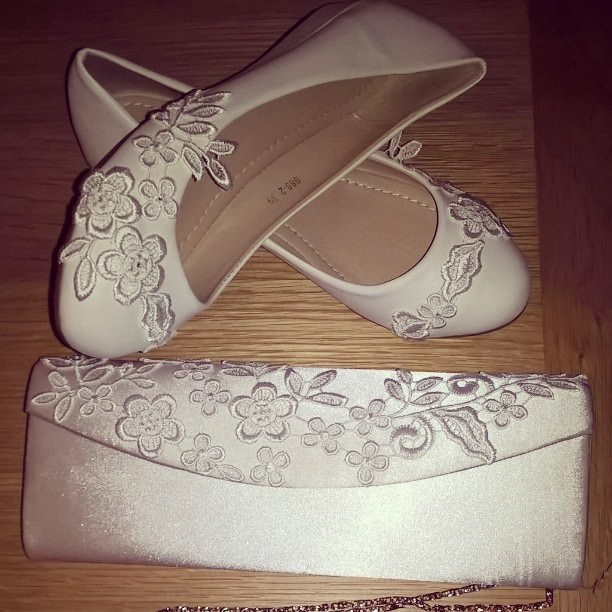Flowered Shoes For Wedding Parties