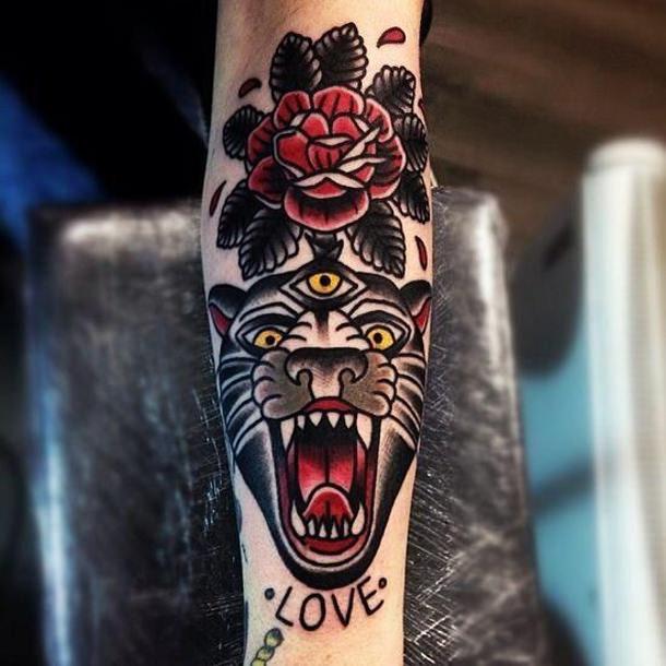 Tiger Traditional Tattoo