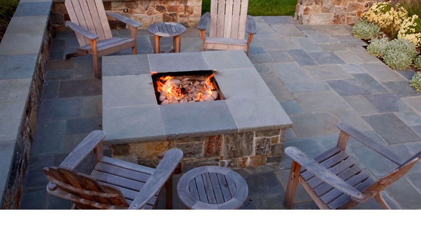 Stone Slate For Backyard 20+ stone patio outdoor designs, decorating ideas | design trends