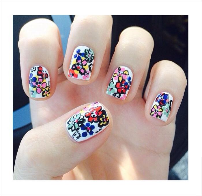 colorful classy nail designs
