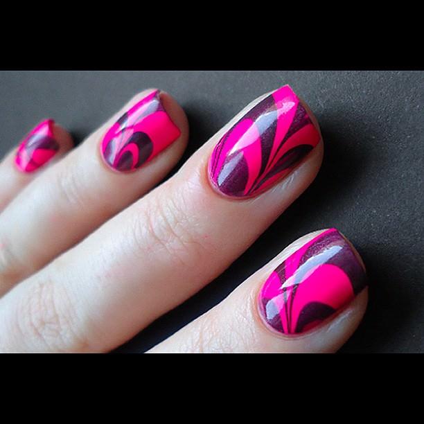 nice pink nail design
