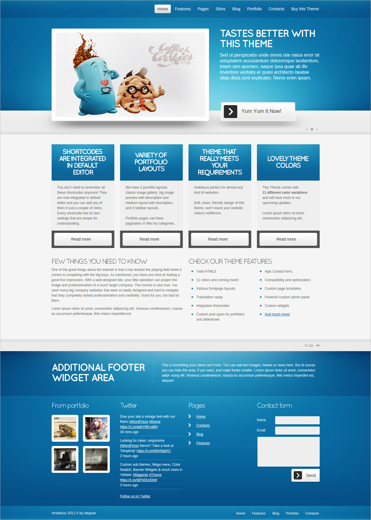 Ambitious Business & Portfolio WP Theme - $37