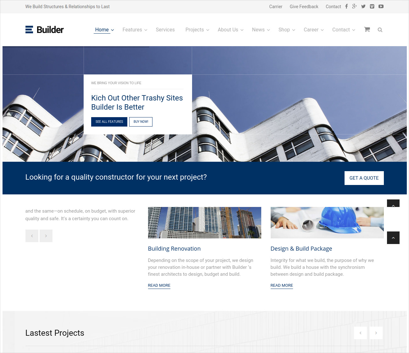 Building & Construction Business WP Theme