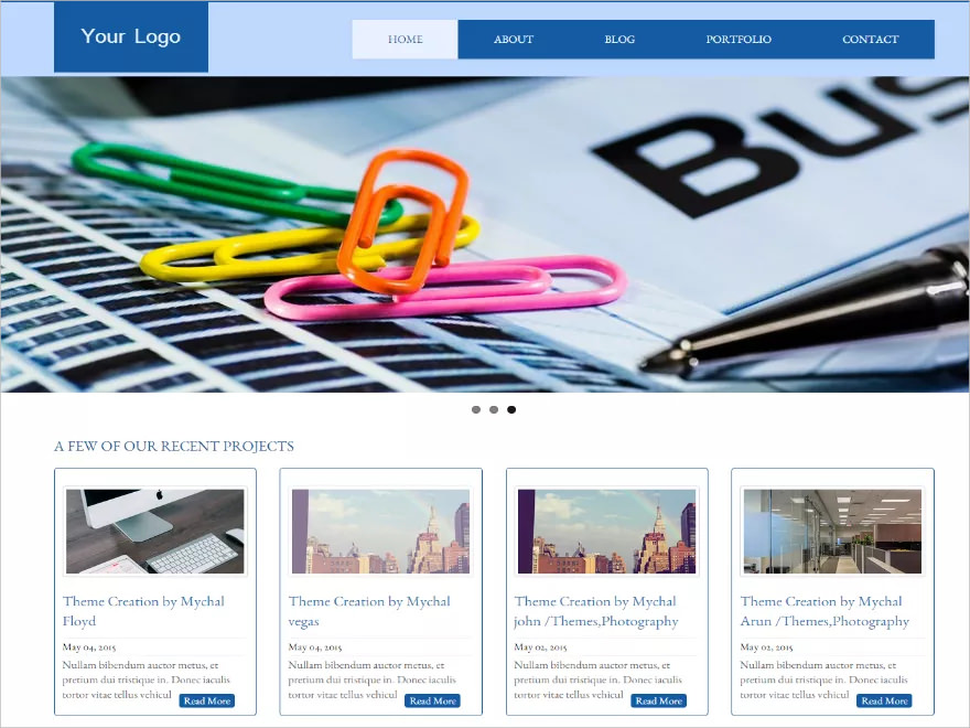 Business Group WordPress Theme - Free