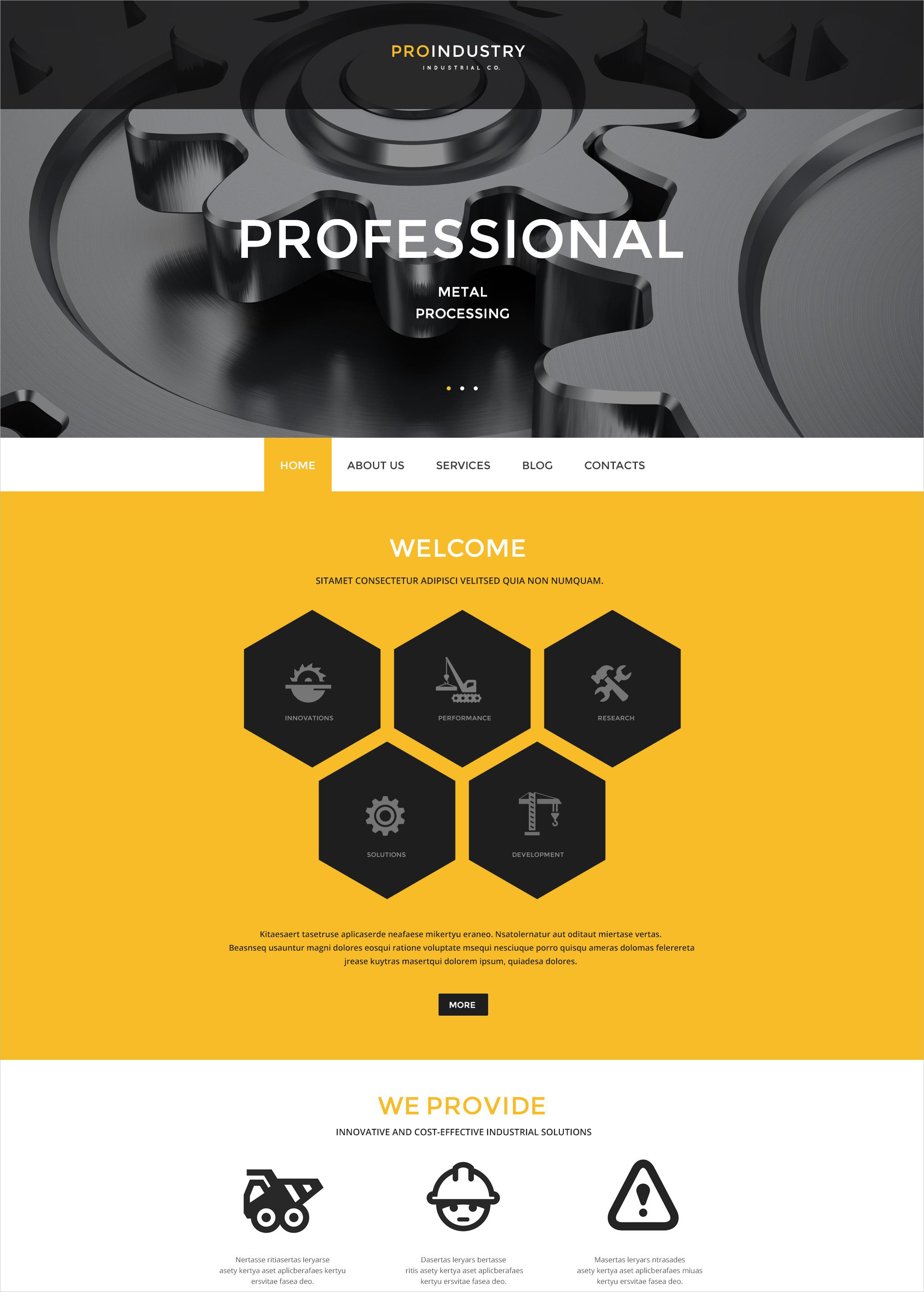 Business Industry WordPress Theme - $75