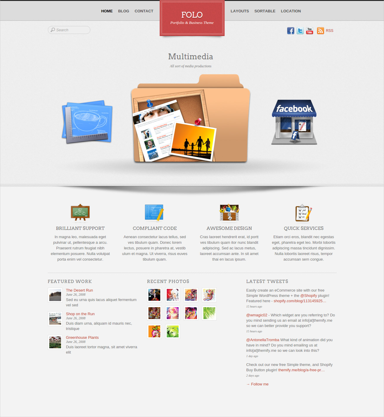 Business + Portfolio Theme