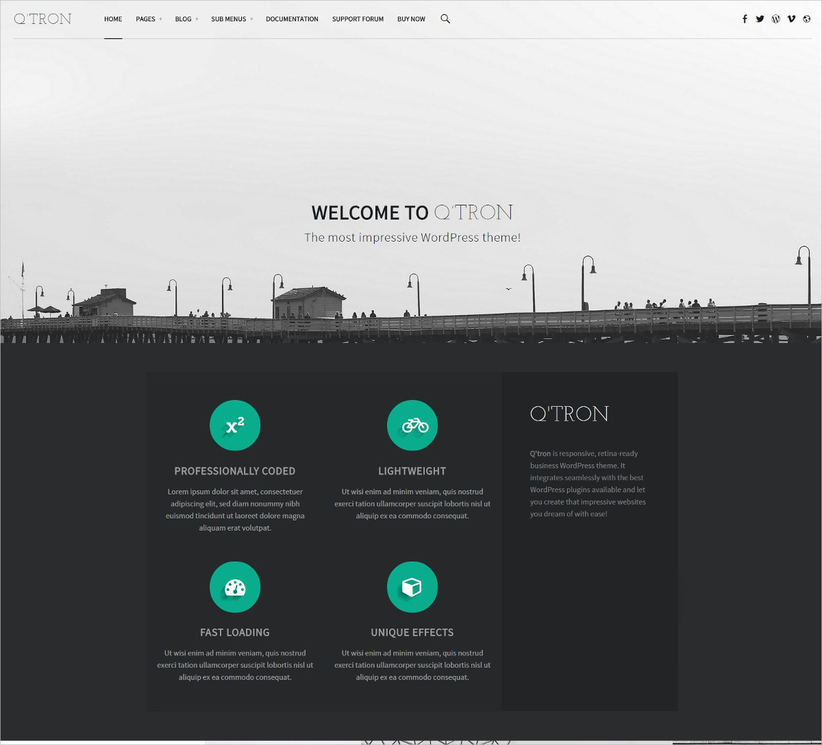 Business Portfolio WP Theme - $70