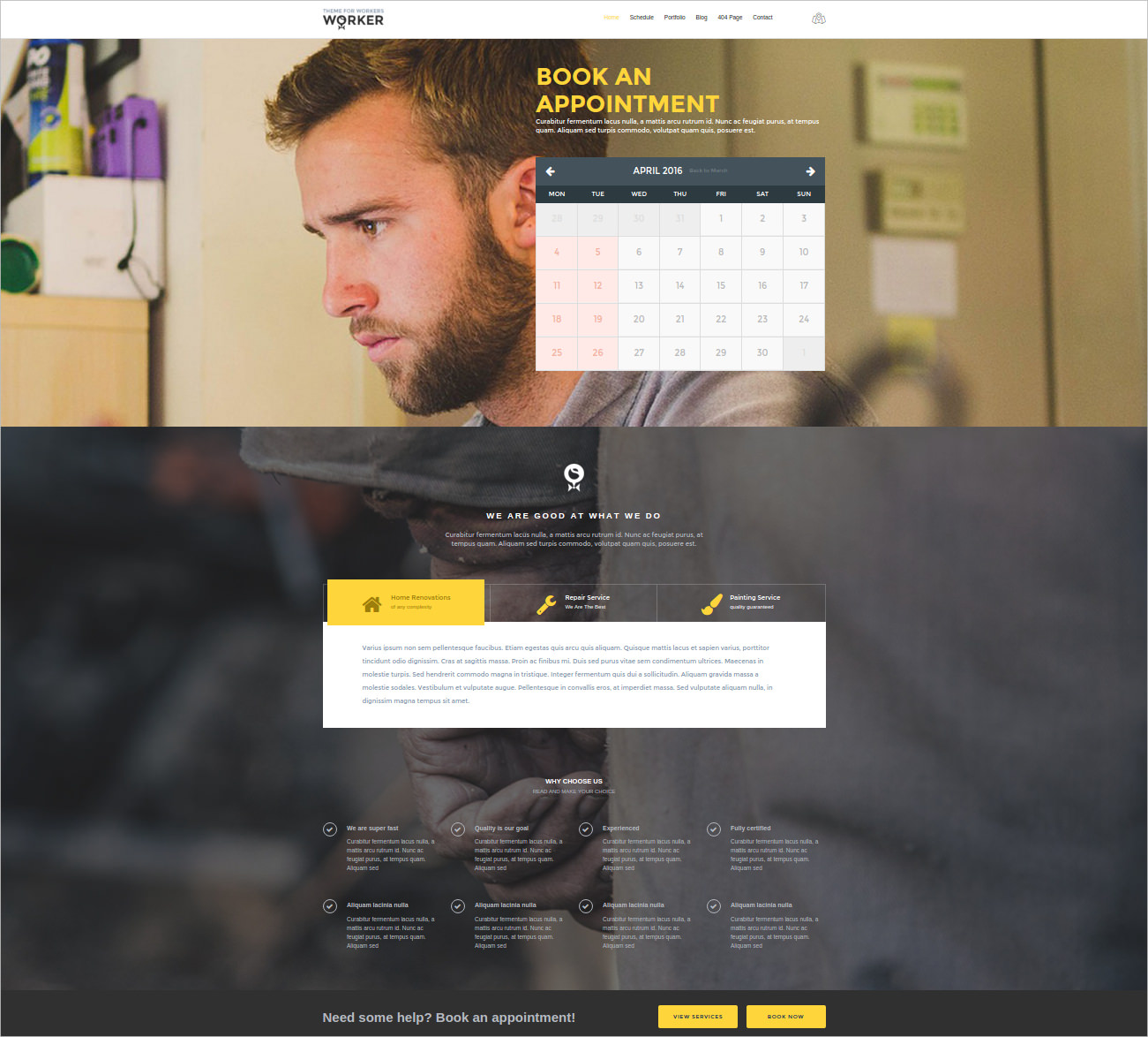 Business Portfolio WordPress Theme - $49