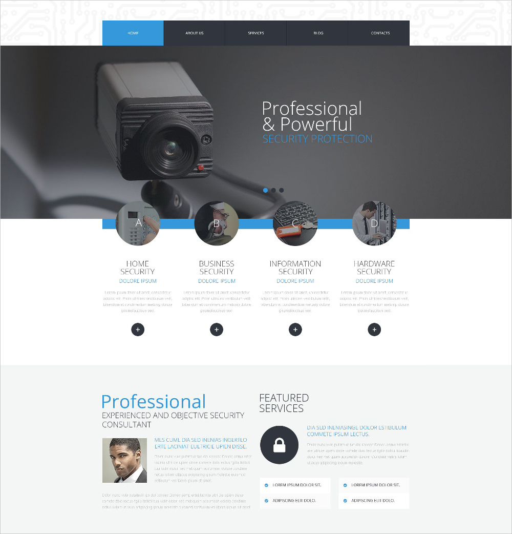 Business and Services WordPress Theme - $75
