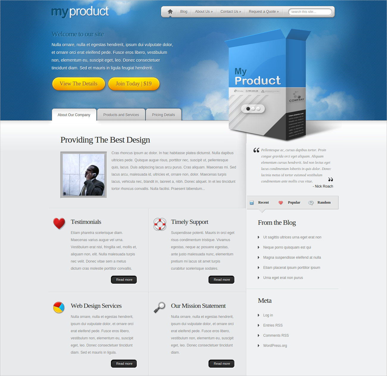 Business Product Promoting Theme