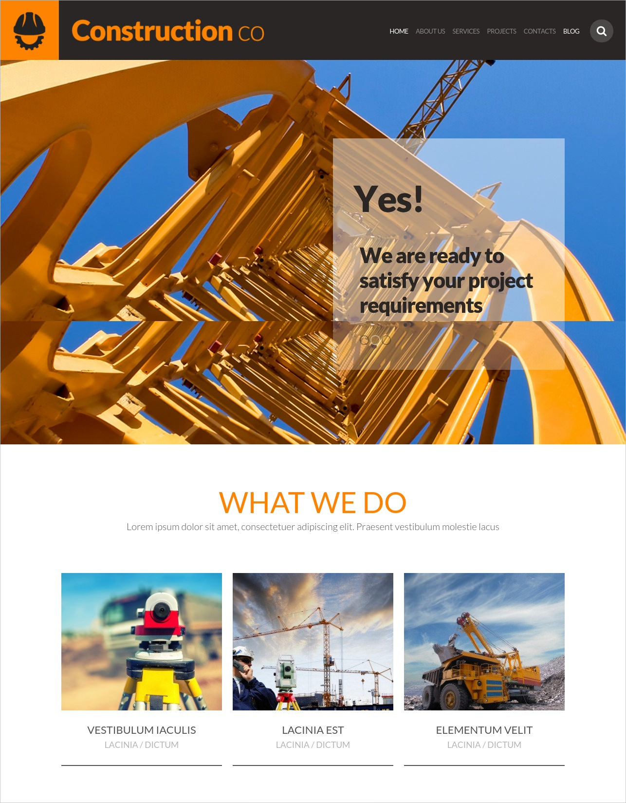 Construction Business WordPress Theme - $39