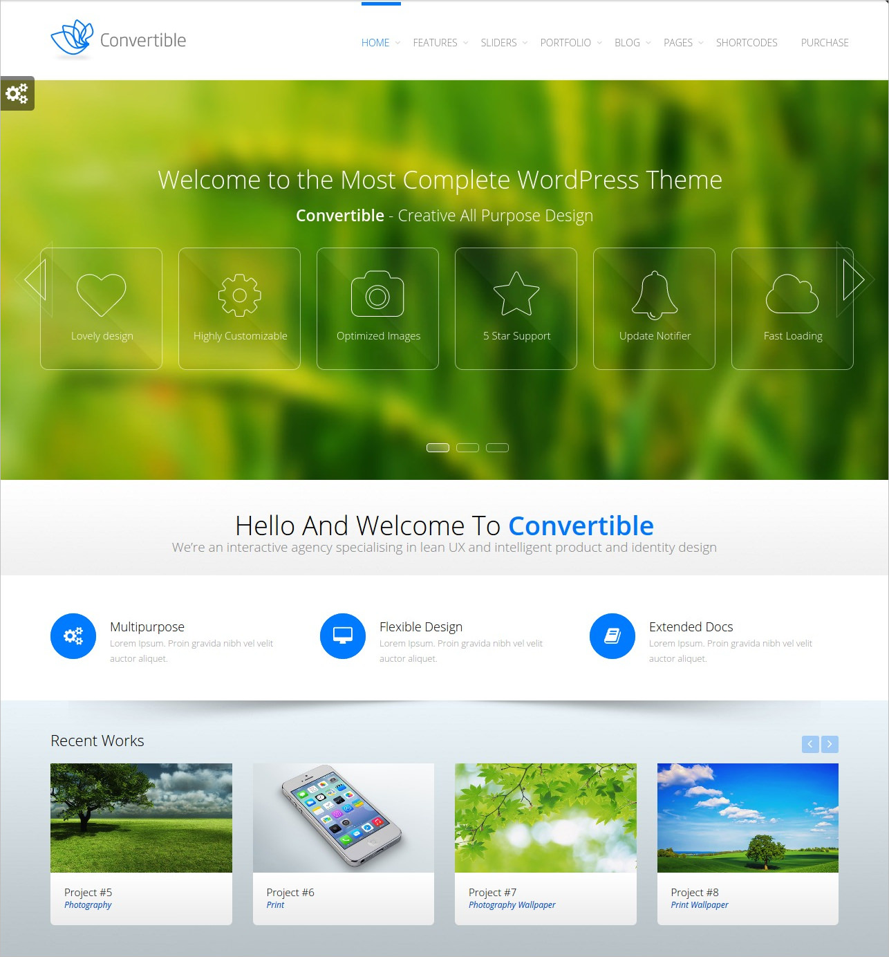 Convertible Business WordPress Theme - $49