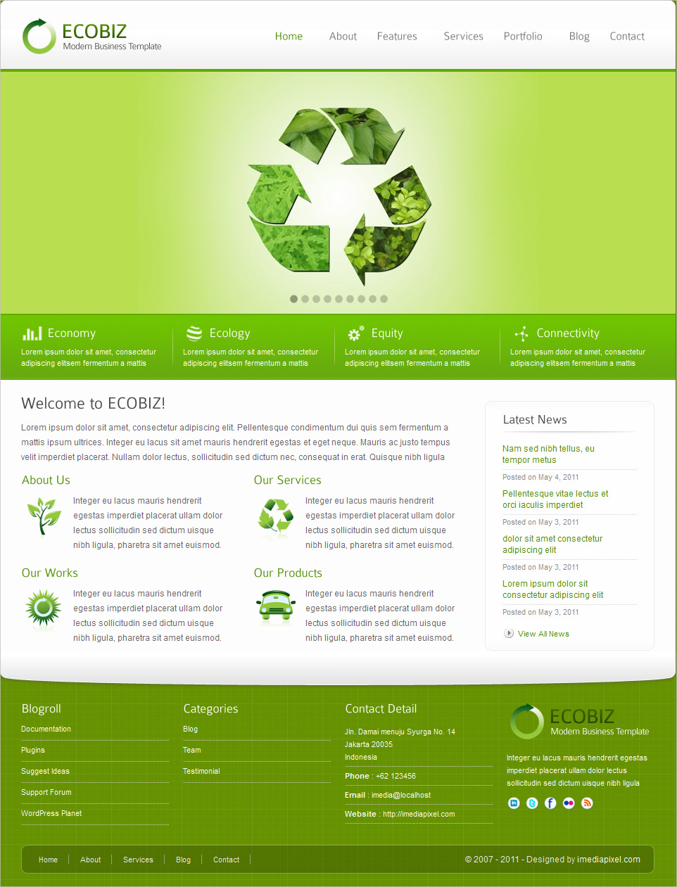 Eco Business WordPress Theme - $44