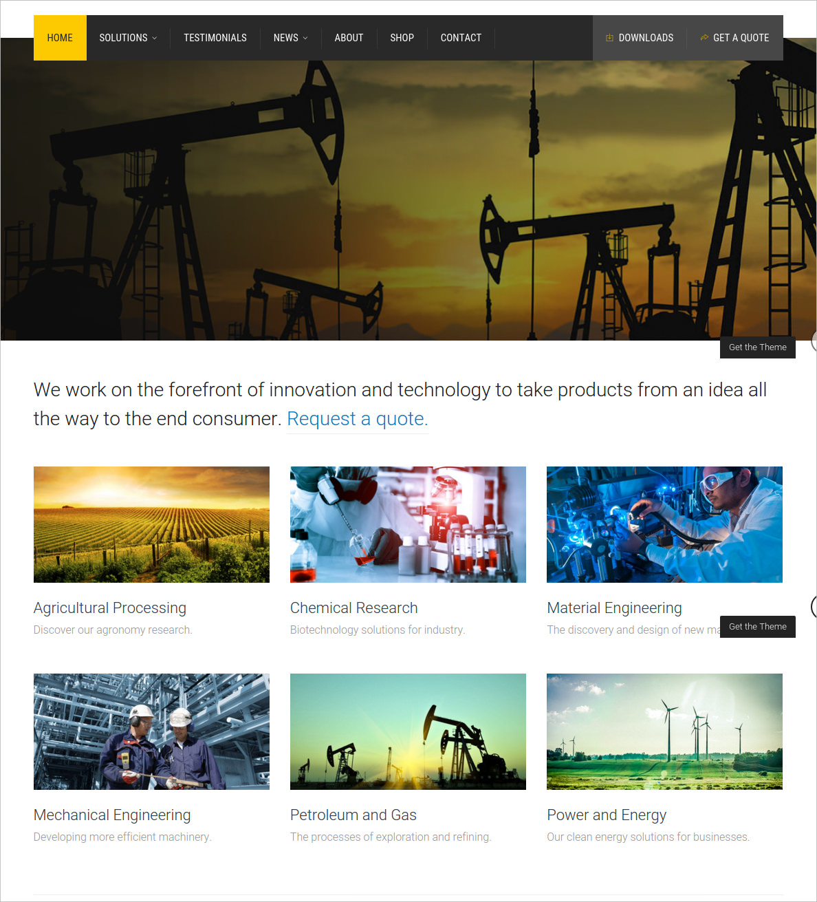 Factory Industrial Business WP Theme - $59